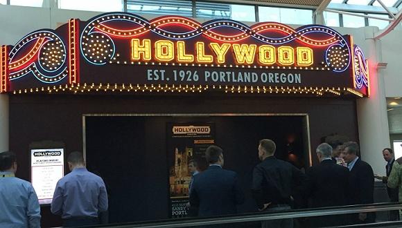 波特兰国际机场开了个微型电影院,不过你可别成为误机的影迷