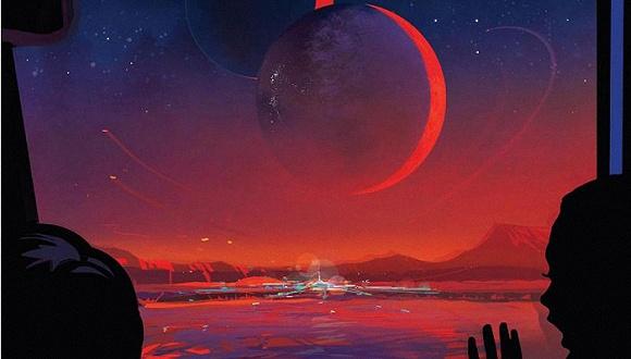 "NASA发布""跳星球游""系列海报,推广太空旅行"