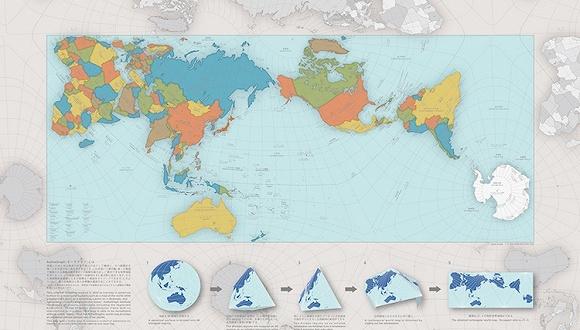 日本最权威的设计评选 今年把大奖颁给了一张世界地图