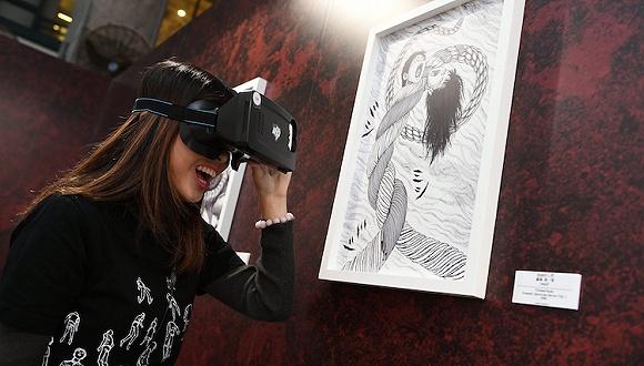 运用AR探讨恐怖美学 日本漫画家伊藤润二在香港办了个展览