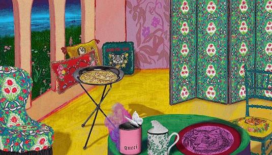 Gucci进军家居界 睡在Alessandro Michele设计的床上是怎样的体验?