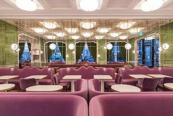 顶级马卡龙品牌在四季酒店里,开了一间少女心爆棚的餐厅