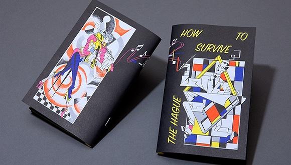 这堆看上去特别不正规的笔记本 其实是海牙皇家艺术学院的新生手册