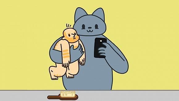 看了能戒猫的小漫画
