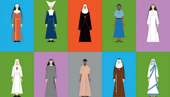 一本颜值很高的新书 讲的是修女们所穿的衣服中暗藏的秘密