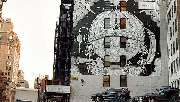 Gucci在纽约做了一幅墙绘广告 这背后有个迷妹梦想成真的故事