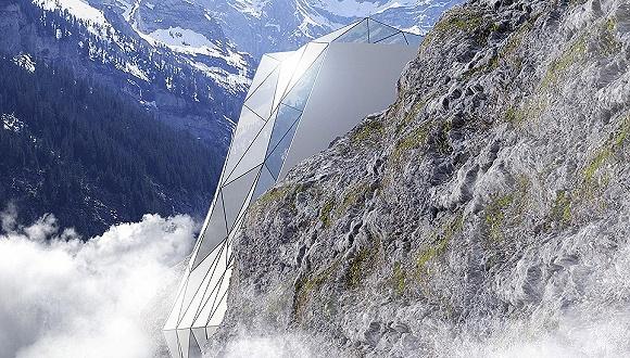 阿尔卑斯山的悬崖缝里要建一座玻璃酒店