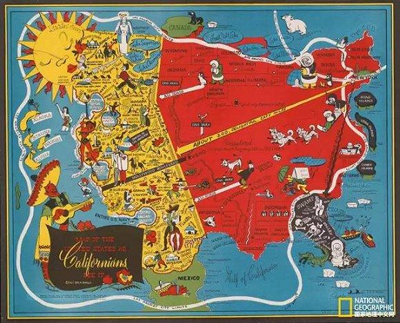 幽默的手绘地图原来有个严肃的别名,美国人叫画报地图