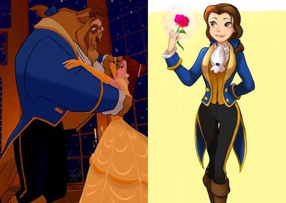 姐姐大人万岁!迪士尼公主穿王子装迷死妹子